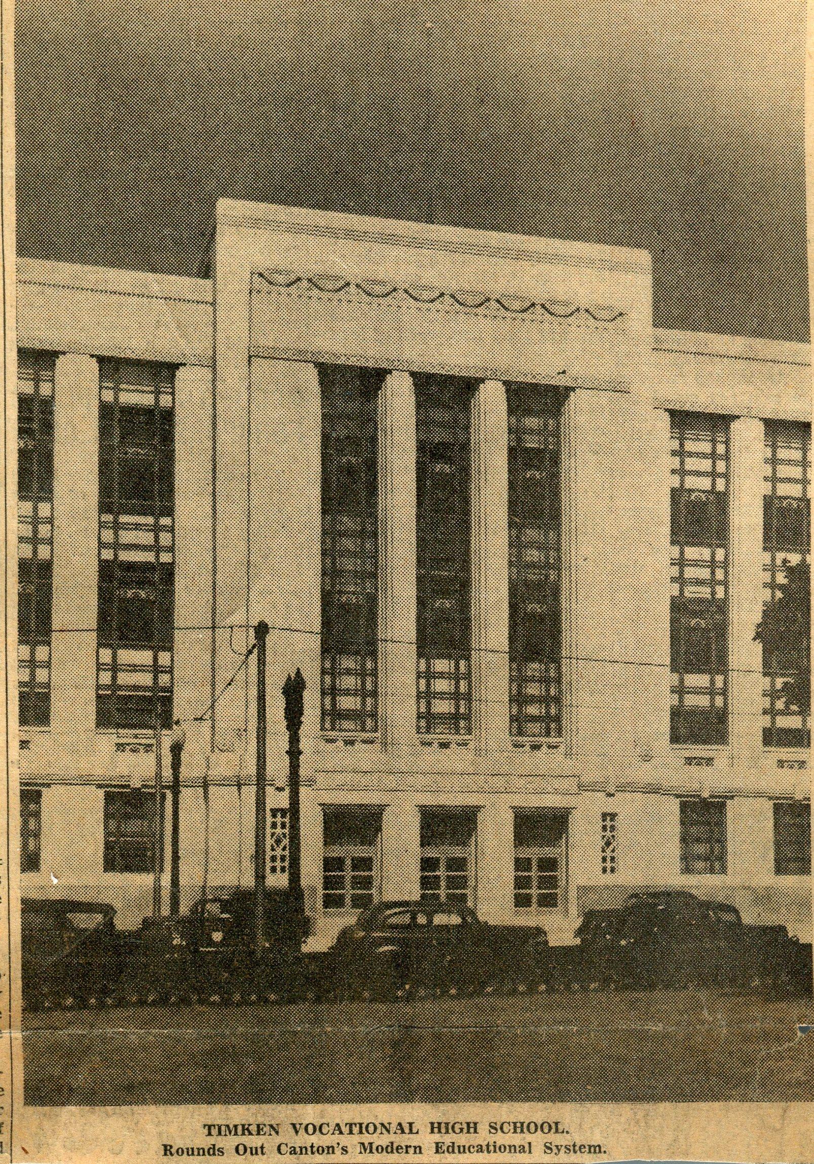 Timken Formal Dedication Friday October 27th 1939