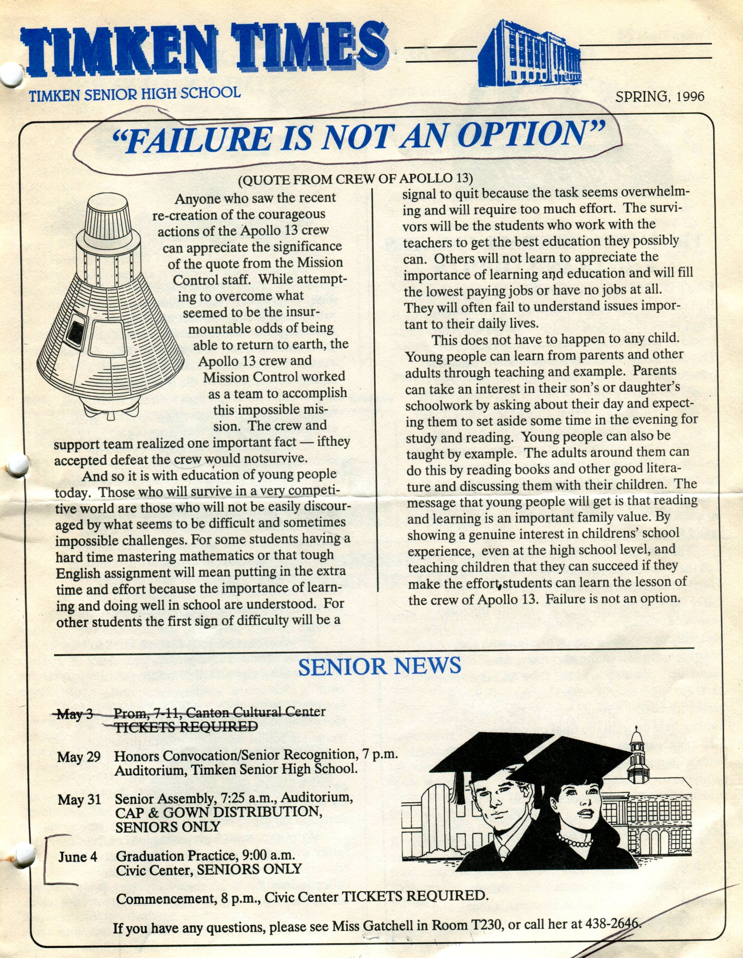 timken times 1996